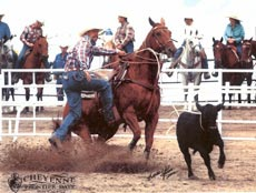 Mike on Willy at Cheyenne Pro Rodeo